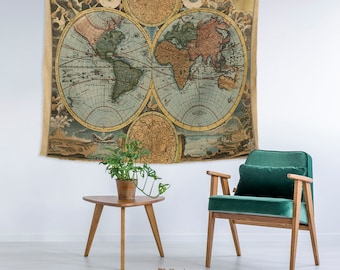 World map decor etsy gumiabroncs Image collections