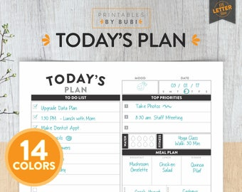 Daily Planner Printable, Daily Planner Insert, Printable Planner, Planner, Day Planner, Planner Pages, Daily Organizer, Daily Agenda