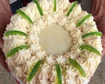 CP Key Lime Pie Soap Cake Slice Handmade All natural Artisan Organic Vegan Gift for Her Gift for Him Christmas Gift Stocking Stuffer