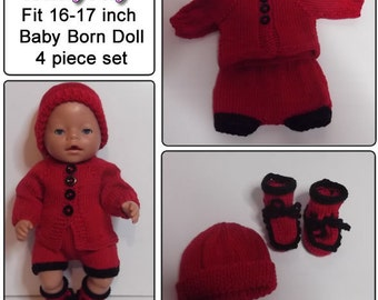 LADYBUG Knitting pattern to fit Baby Born doll 16 to 17 inches