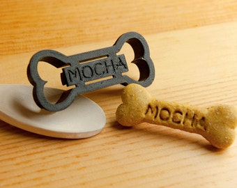 Dog Bone Cookie Cutter Custom Treat Personalized Pet Medium