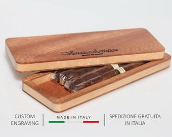 Cigar case,Cigar box,Christmas gift,Gift for men,Boyfriend gift,Gift for dad,Birthday gift,Gift for him,Holiday gift,Personalized gift