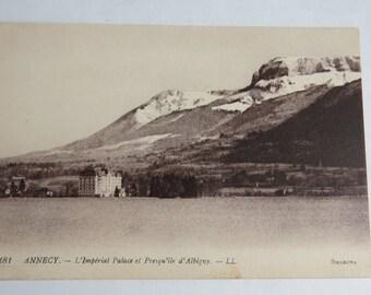 Antique Postcard Annecy L'Imperial Palace el Presqu'ile d' Albigny.-LL