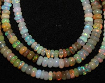 Ethiopian Opal Beads 15 Pcs Nice Flashy Quality 4-7mm Opal Rondelle Beads Loose Semiprecious Gemstones Take 10% Off Opal Jewelry Supplies