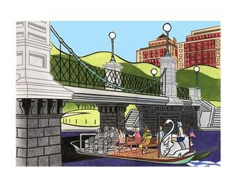 swan boats public garden, boston