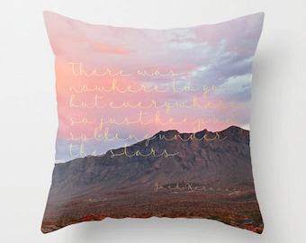 Jack Kerouac Quote, Velvet Pillow Cover, Pillows with Saying, Desert, Boho Pillow, Dorm, Velvet Cushion Cover, Literary Gifts, Gifts for Her