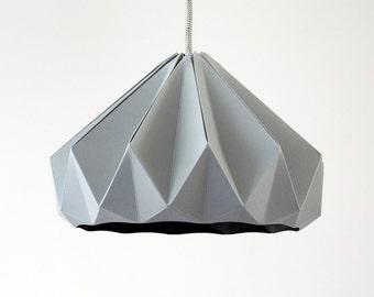 Chestnut paper origami lampshade grey