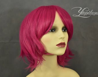 Short Magenta Wig | Short Pink Wig | Pink Wig | Short Wig | Costume Wig - short wig with high quality synthetic hair
