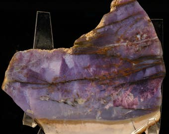 Exquisite Semi-Polished Damsonite Burro Creek Purple Agate Jasper Slab