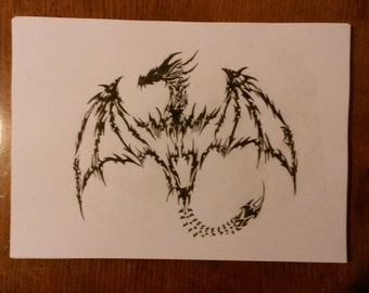 My Drawing Of A Tribal Dragon.