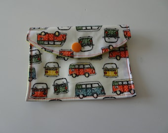 wallet in coated cotton patterns vehicles