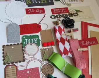 SALE, SALE, SALE! Holiday Gift Wrap  Kit--45 pc set--plus a few extra goodies.