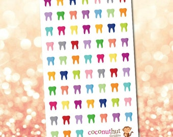 Dentist / Tooth / Teeth Planner Stickers