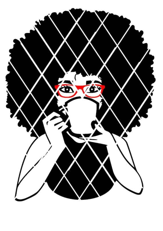 Woman Drinking With Mug Svg Afro Puff Svg Madam Svg Sistah