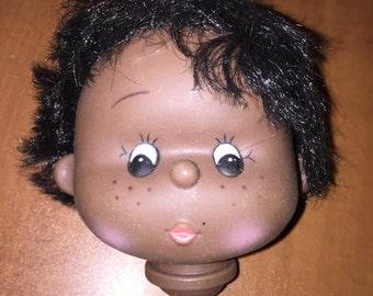 Vintage Rare Black Doll Head Dollmaking Supplies NOS H2