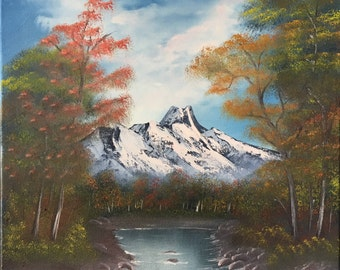 inspired by Autumn image of Bob Ross landscape