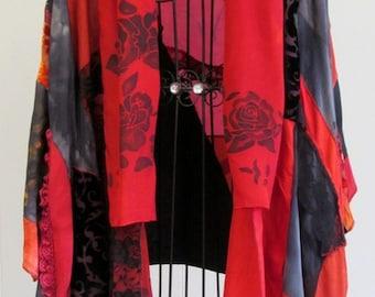Large Red and Black Kimono