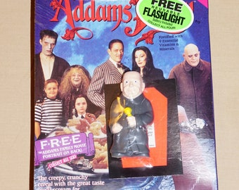 1991, Addams Family Cereal, UNCLE FESTER Flashlight, Factory Sealed, Vintage Addams Family,  New in the Box, Vintage Flashlight Toy