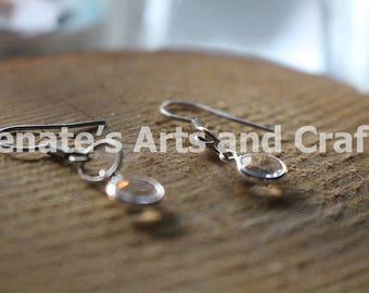Elegant clear gemstone earrings