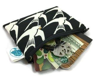 Coin Purse - Coin Bag - Change Purse - Small Cosmetic Bag - Zipper Pouch - Change Pouch - Coin Pouch in King Sparrow