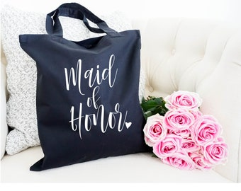 Maid of Honor tote, Wedding Party Tote, Wedding Party Gift, Tote Bag, Wedding Gift, Personalized Tote, Bridal Party Tote