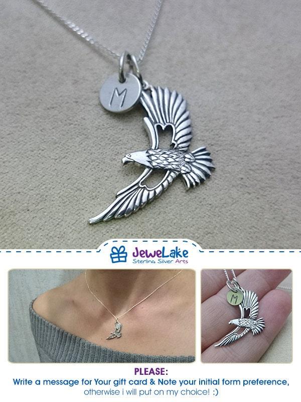 philadelphia eagles bird necklace american indian silver eagle eagle jewelry eagle charm flying eagle american eagle hawk necklace patriotic