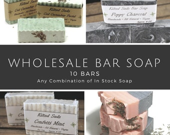 Wholesale Bar Soap, 10 bars, bulk bar soap, wholesale soap, wholesale vegan soap, wholesale natural soap, Vegan Bar Soap, bulk soap