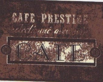 "COCOA 6: APPLIQUE PATTERN ""CAFÉ PRESTIGE"" COTTON TWILL"