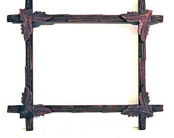 Walnut Picture Frame Carved Leaf Frame c.1800's Frame Ready to Use