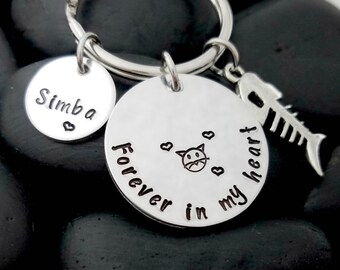 Cat Memorial Keychain - Cat Loss Keychain - Pet Memorial Keychain - Pet Loss Gift - Pet Remembrance Jewelry - In Memory Keychain