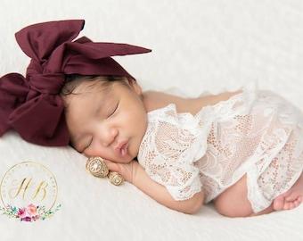 RAISIN Gorgeous Wrap- headwrap; fabric head wrap; purple head wrap; boho; newborn headband; baby headband; toddler headband