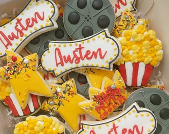 1 Dozen Movie Night/ Popcorn/ Hollywood Cookies