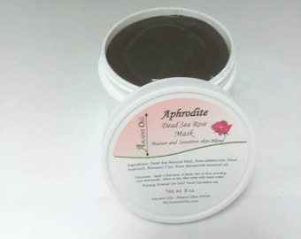 Dead Sea Mud Mask with Rhassoul clay and Rose oil 8 oz.
