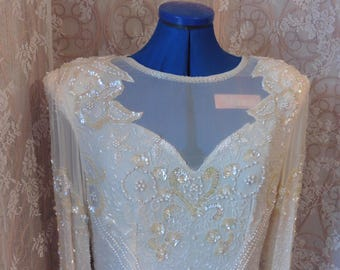 1980's Pure Silk Flapper Style Dress