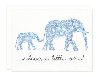 Welcome Little One Elephant Greeting Card