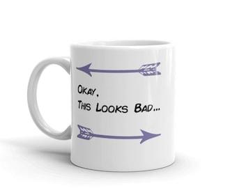 Okay This Looks Bad Hawkeye Mug // Clint Barton, Kate Bishop, Comic