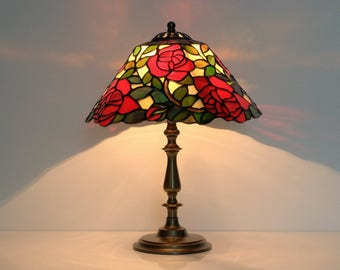 Baltic amber lamps stained glass lamps by amberglassart on etsy little roses bedside lamp table lamp stained glass lamp shade tiffany lamp stained glass lamp stained glass lampshade pair of lamps aloadofball Images