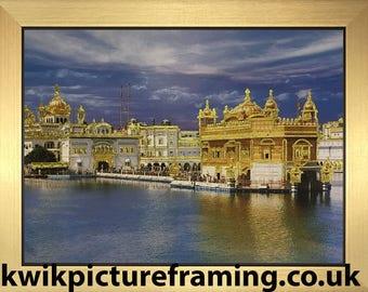 Sri Harmandir Sahib Golden Temple Picture Frame - 12″ X 9″ Inches