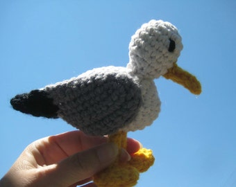Amigurumi seagull crochet pattern, Crochet pattern amigurumi bird, Crochet seagull, Amigurumi animals pattern, Crochet bird pdf pattern