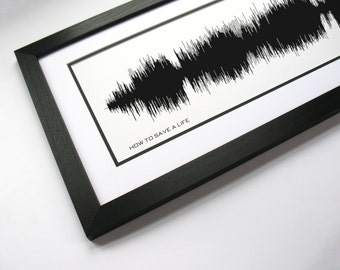 How To Save A Life - Panoramic Song Poster - Sound Wave Art Print
