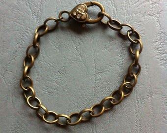 Bracelet links oval length 19.5 cm