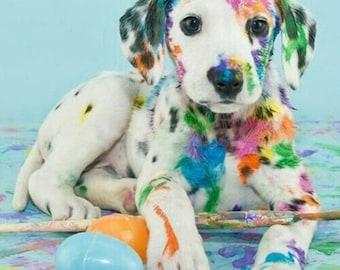 5D DIY Diamond Painting Kit,Animal Resin Cross Stitch Kit,Crystals Embroidery,Home Decor Craft (Dog)