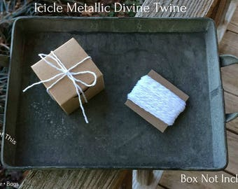10 Yards • Icicle Metallic Divine Twine Baker's  Twine / String • 100% Cotton • Eco Friendly • Gift Wrap • Bakery String • Weddings • DIY