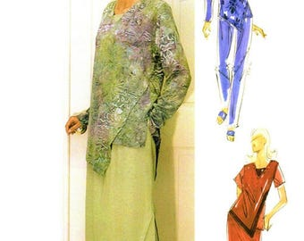 Purrfection Artistic Wearables 1029 Assymmetry Tunic Top, Skirt & Pants / 1990's All Sizes UNCUT