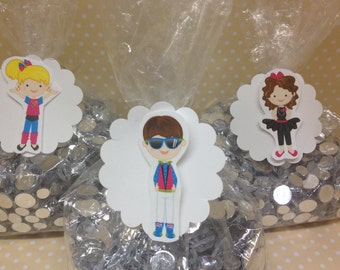 Awesome 80's Party Candy or Favor Bags with Tags - Set of 10