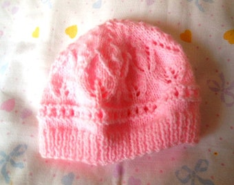 SMALL premature hand knitted Hat-