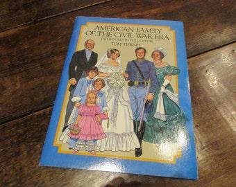 Tom Tierney Original Vintage 1985 Civil War *uncut* Paper Dolls - Full Book
