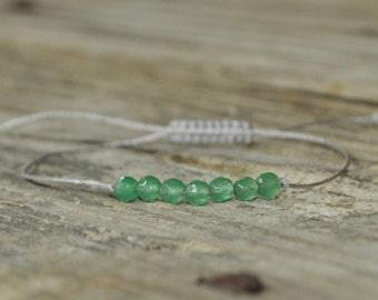 Heart Chakra Bracelet, Aventurine, Fifth Chakra, Gemstone Therapy, Yoga Bracelet, Meditation Bracelet, Wish Bracelet, Reiki