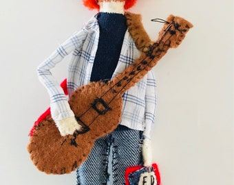 ED SHEERAN Handmade Small Felt Doll