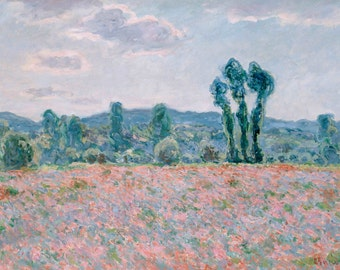 Claude Monet: Poppy Field. Fine Art Print/Poster (001497)